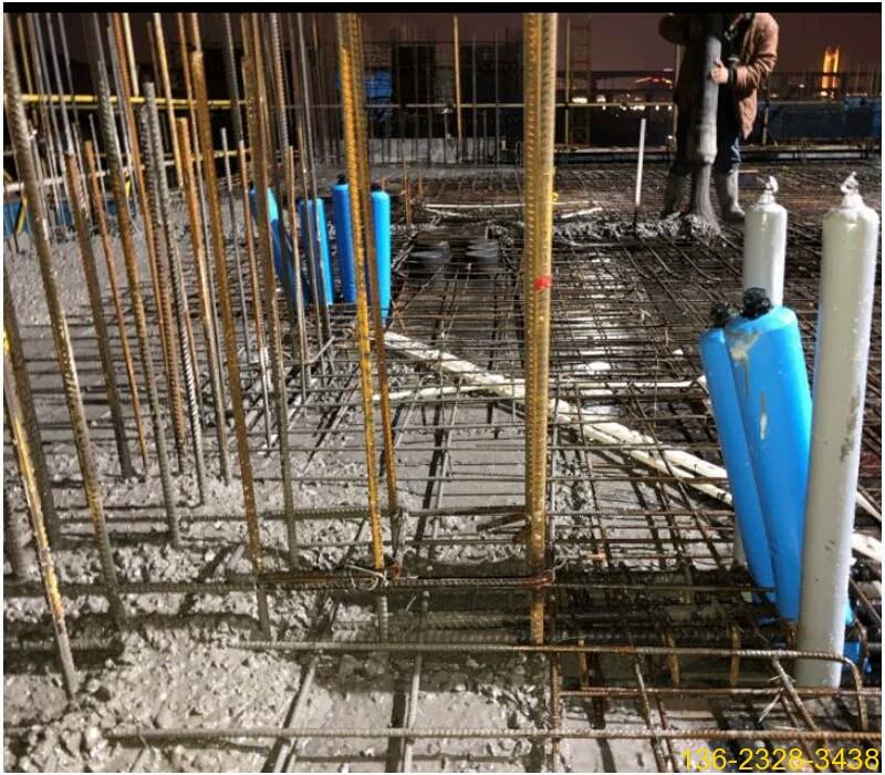 混凝土防串标气囊 混凝土后浇带隔断气囊【充气隔断柱】1